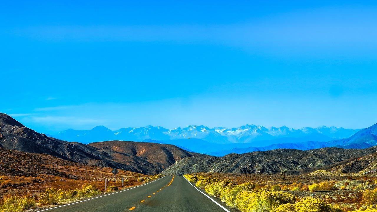 Górzysty krajobraz ameryki